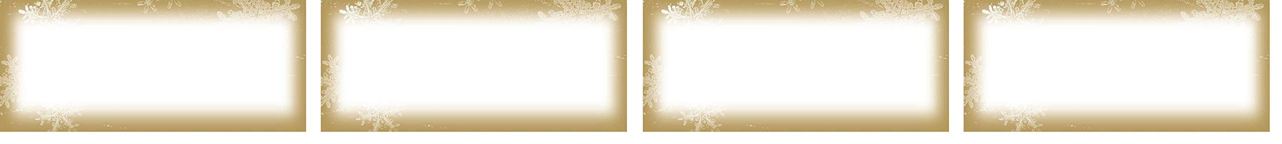 Great Papers! 9.5'' x 4.125'' Imprintable Stationery, Frosted Holiday Wishes (2011608) (Fоur Расk) by Great Papers!