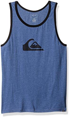 Quiksilver Men's Mountain and Wave Tank Top Tee T-Shirt, Dark Denim Heather, (Quiksilver Mens Mountain Wave)