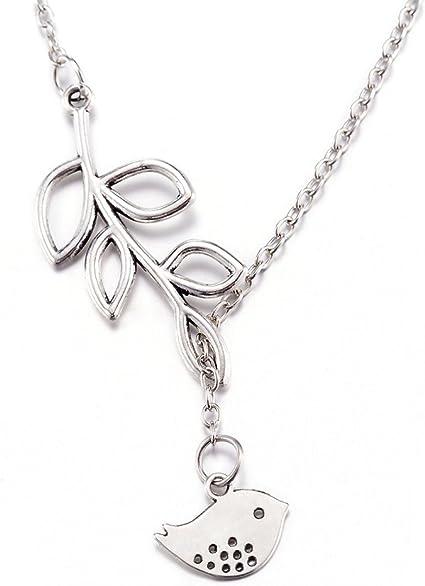 MANZHEN Silver Tiny Flying Hummingbird Nature Bird Pendant Necklace