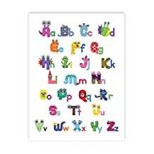 Wall Letters, Monster Alphabet 08x10 Inch Print, Print For Kids, Monster ABC's, My ABC'S Monster, Monster Décor, Decorations Playroom, Monster Wall Décor, Baby Boy Nursery Monster