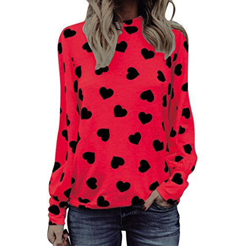 haoricu Valentines Day Shirts Women, 2018 Love Printing T Shirt Long Sleeve Girls Pullover Tops (S, (Dollar Day Dress)