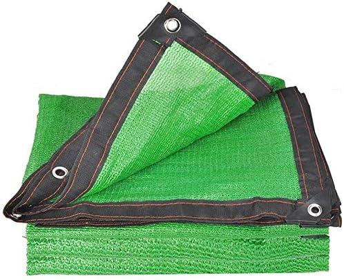 シェードセイル 85% シェーディング率 園芸 パティオ バルコニー 厚くする 遮光ネット 緑、 21サイズ 日除け シェード MM (Color : Green, Size : 6×6m)