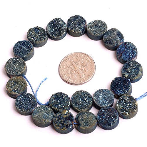 JOE FOREMAN 10mm Raw Amethyst Semi Precious Gemstone Blue Loose Beads for Jewelry Making DIY Handmade Craft Supplies 8