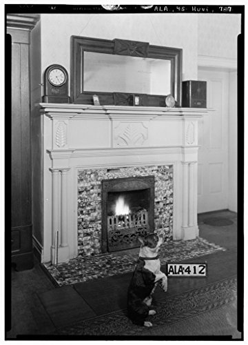 8 x 12 Photo 7. Historic American Buildings Survey Alex Bush, Photographer, May 24, 1935 Fireplace in Rear Bed Room - Neal House, 558 Franklin Street, Huntsville, Madison County, A After 1933 16a by Vintography