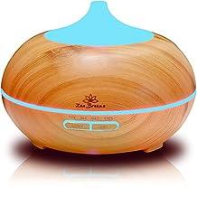 Zen Breeze - 2016 Model Essential Oil Diffuser & Aroma Humidifier | Best Wood Grain | Ultrasonic Whisper Quiet Cool Mist