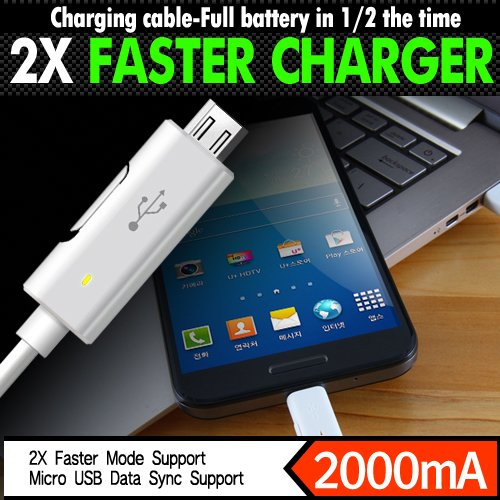 Innovative 2X Faster Micro USB Data Sync Charging Cable for Android SmartPhone (Black)