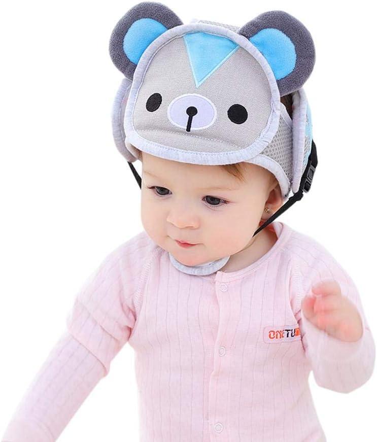 KOBWA - Casco de seguridad ajustable para bebés con arneses de ...