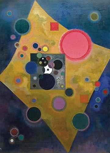 1art1 Vassily Kandinsky Poster Papier Peint - Accent en Rose, 1926, 2  Parties (250 x 180 cm): Amazon.fr: Cuisine & Maison