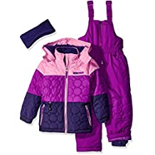 Pink Platinum girls Circle Quilted Better Snowsuit