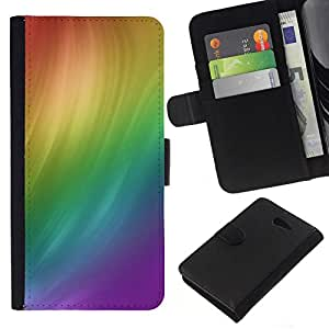 All Phone Most Case / Oferta Especial Cáscara Funda de cuero Monedero Cubierta de proteccion Caso / Wallet Case for Sony Xperia M2 // RAINBOW SWIRL