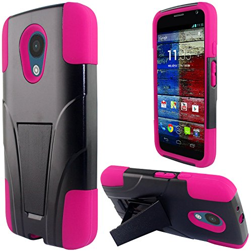 (LF 3 in 1 Bundle - Hybrid Dual Layer Case with Stand, Stylus Pen & Screen Wiper for Motorola Moto G 5
