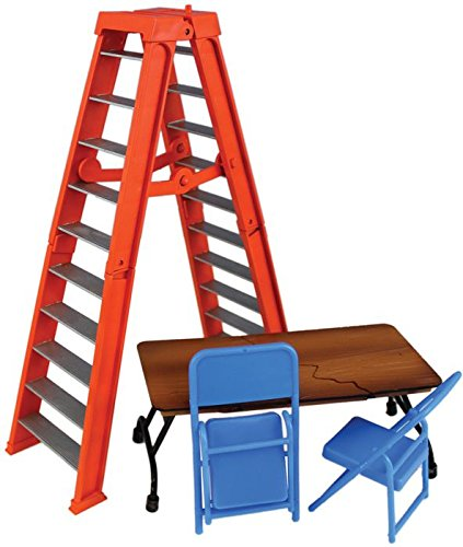 - Wrestling Ultimate Ladder & Table Playset (Orange) - Ringside Collectibles Exclusive WWE Toy Action Figure Accessory Pack