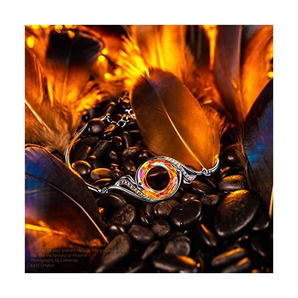 Kate Lynn, Nirvana di Fenice Bracciale, Design Originale Simboleggia Fortuna e Rinnovamento, Cristalli di Swarovski,Confezione Regalo Elegante 3