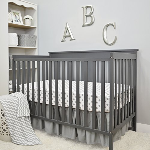 American Baby Company 3 Piece Crib Bedding Set, Grey, for Boys and Girls