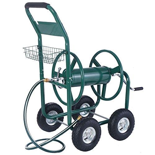 Anbeaut 300FT Garden Water Hose Reel Cart with Basket by Anbeaut