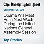 Obama Will Meet Putin Next Week During the United Nations General Assembly Session | Steven Mufson