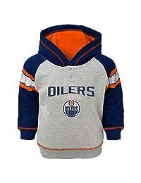 Edmonton Oilers Infant Classic Stripe Pullover Fleece Hoodie