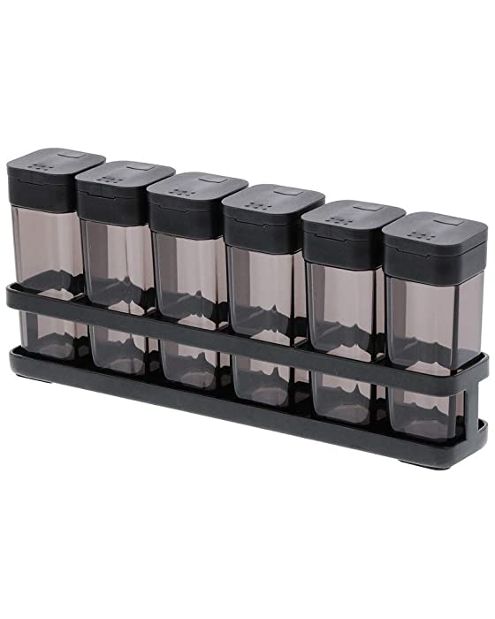 YAMAZAKI home Tower Spice Rack (6 Bottles) BK Space saving One Size Black