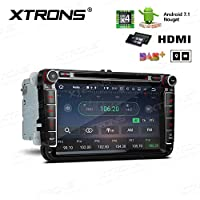 XTRONS 8 Inch Quad Core Android 7.1 Multi Touch Screen Car Stereo Player GPS HDMI DSP For Volkswagen VW Golf Passat Seat