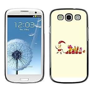 YOYO Slim PC / Aluminium Case Cover Armor Shell Portection //Christmas Holiday Santa & Gifts 1084 //Samsung Galaxy S3
