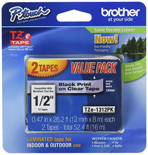 Brother TZe Tape Black TZe1312pk