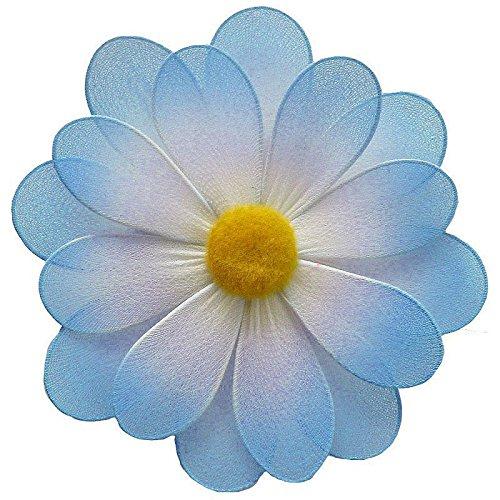 (The Butterfly Grove 3D Organza Nylon Mesh Hanna Flower Artificial Wall Hanging Decoration, Hawaiian Blue,)