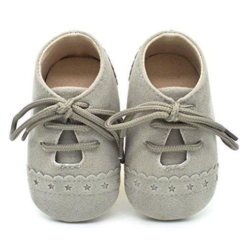 Lauflernschuhe,Chshe Baby. Sneaker Anti - Slip Weich Sole Schnürschuhe Grau