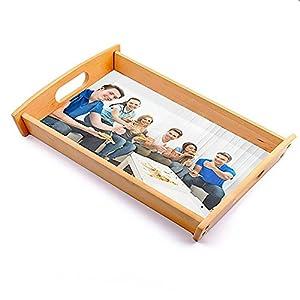 Dkora-T - Bandeja de madera personalizada Pequeña - 34x21cm 24