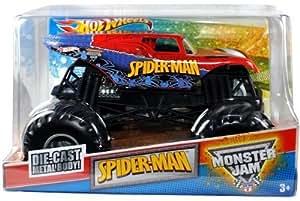 Amazon Com 2011 Hot Wheels 1 24 Scale Spider Man Monster