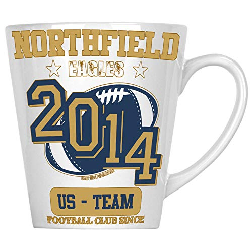 Northfield Eagles Footbal Club Since 2014 US Team 12oz Latte Mug x827L