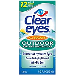 Clear Eyes All Seasons Outdoor Dry Eye Protection - #1 Selling Brand of Eye Drops - Lubricant Eye Drops Protect & Hydrate Eyes Exposed to Drying Effects of Wind & Sun - 0.5 Fl Oz