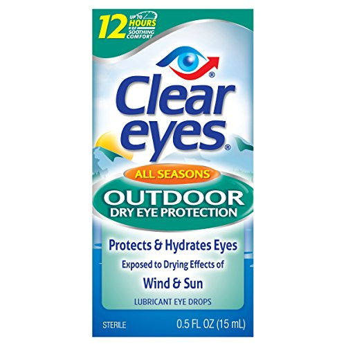 Clear Eyes All Seasons Outdoor Dry Eye Protection - #1 Selling Brand of Eye Drops - Lubricant Eye Drops Protect & Hydrate Eyes Exposed to Drying Effects of Wind & - Selling Sunglasses Online