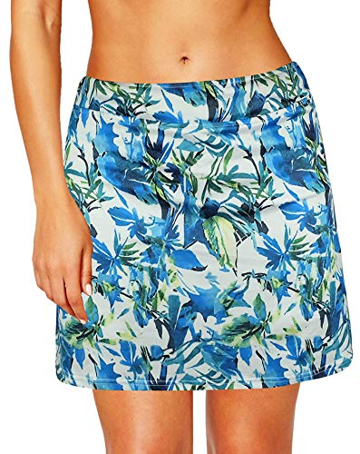 (modase Women's Active Performance Skort Casual Pleated Skirt for Running Tennis Golf Workout M)