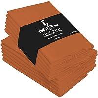 Trade Fountain - Juego de 12 servilletas de tela de algodón puro, 50 x 50 cm, reutilizables, de gran tamaño, ideales…