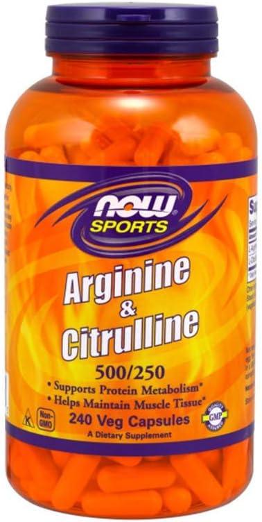 NOW Foods Arginine & Citrulline Veg Capsules (240)