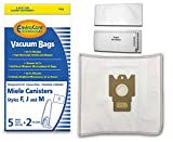 EnviroCare Replacement Vacuum Bags for Miele Type F, J, M Canisters. 5 bags and 2 filters