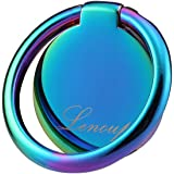 lenoup Rainbow Cell Phone Ring Stand Holder,Blue Multicolor Ring Grip Kickstand,360 Rotation Metal Finger Ring for…