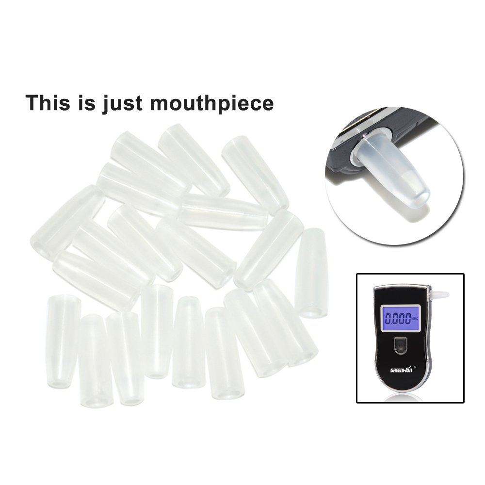 GREENWON 100 Pcs / Lot Breath Alcohol Detector Breathalyzer Reusable Breath Alcohol Tester Mouth Piece Covers (No alcohol tester)