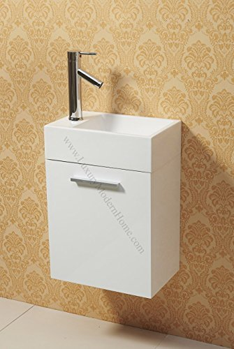 "vs ALEXIUS - WHITE 16"" x 10"" Inch Small vanity sink - Flo..."
