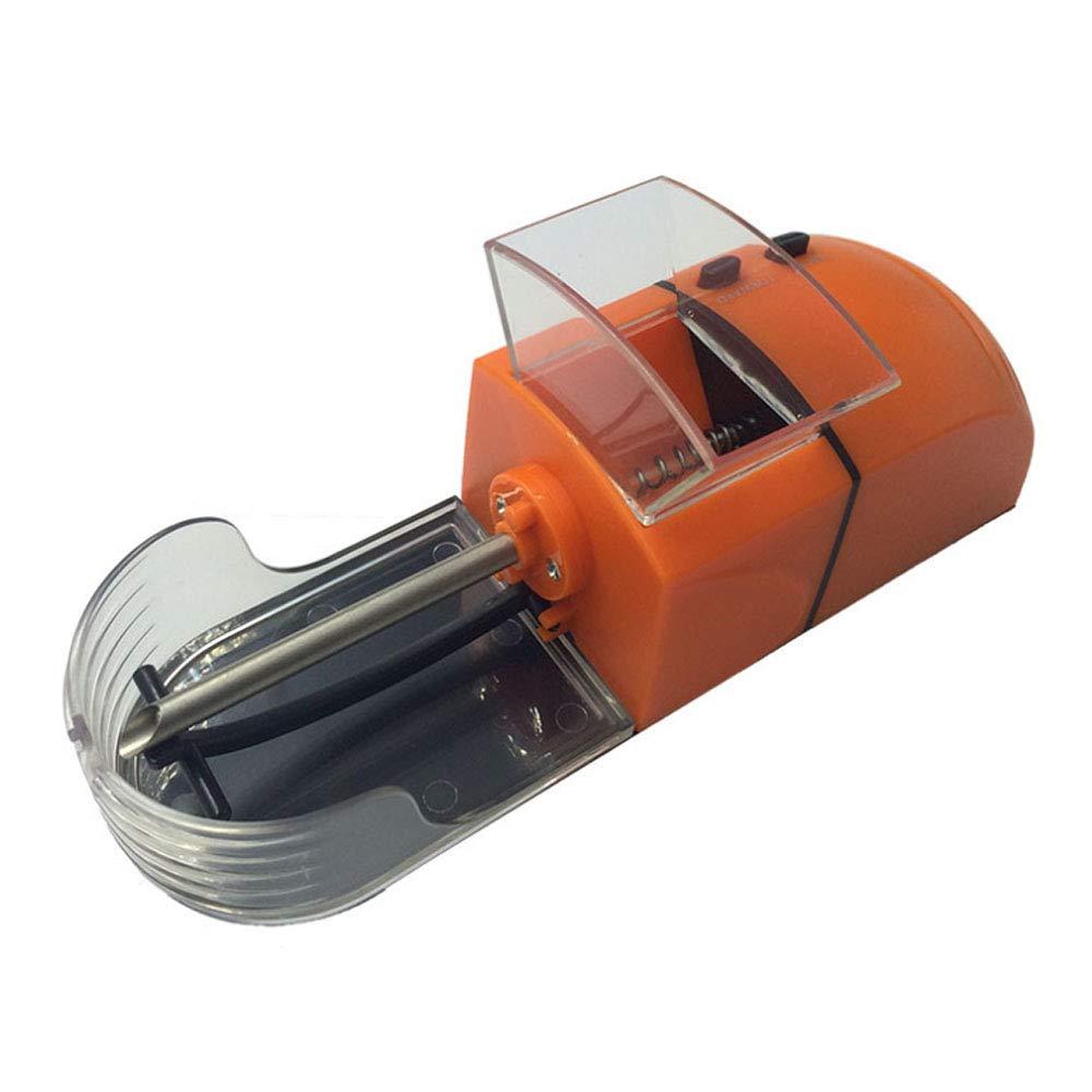 Orange Home Use Electric Automatic Cigarette Rolling Machine Tobacco Maker Homemade