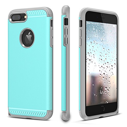 CHTech iPhone 7 Plus Case, iPhone 8 Plus Case Double Layer Shockproof Heavy Duty Protection Armor Case for Apple 5.5 iPhone 7 Plus/iPhone 8 Plus [Mint]