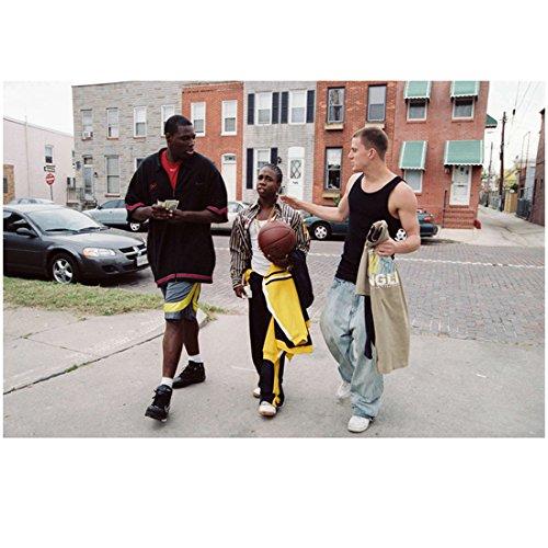 Step Up (2006) 8 inch x 10 inch PHOTOGRAPH Channing Tatum Walking & Talking w/Basketball Buddies kn (Basketball Talking)