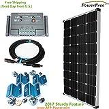 Cheap MonoPlus Solar Cell 150w 150 Watt Panel Charging Kit for 12v Battery RV Boat