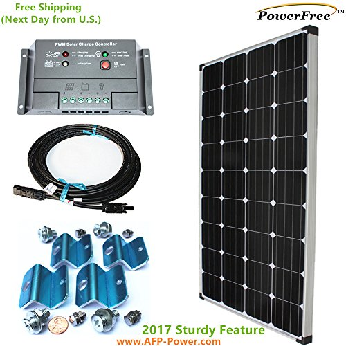 MonoPlus Solar Cell 150w 150 Watt Panel Charging Kit for 12v Battery RV Boat