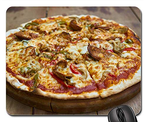 Mouse Pads - Pizza Cheese Mozzarella Dough Healthy Food (Best Mozzarella Cheese Brand For Pizza)