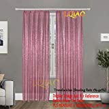 2PCS Pink Gold Sequin Curtain Backdrop- W60xL250cm Shimmer Sequin Fabric Photography Backdrop Luxury Curtains for Bedroom Window Curtains Living Room Elegant Drapes Curtains ¡­