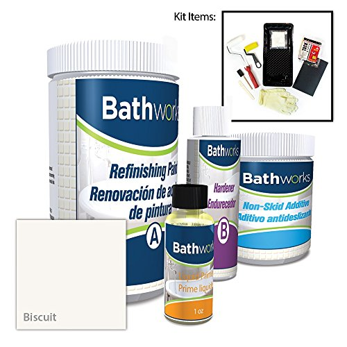 BATHWORKS 22-oz. DIY Bathtub Refinish Kit with SlipGuard- ()