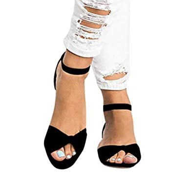 7604f33448ae6 Amazon.com: Pongfunsy Women Sandals, 2019 New Summer Lace-Up ...