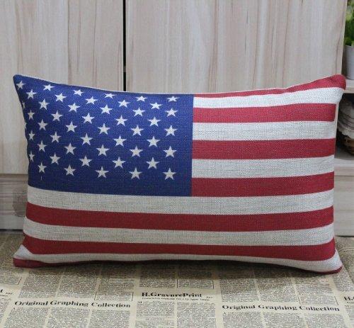 50 x 30 cm Hidoon® la bandera de Estados Unidos América americana de los Estados Unidos de América fundas de cojín