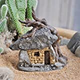 Miniature Dollhouse FAIRY GARDEN /Troll Rock House With Tree